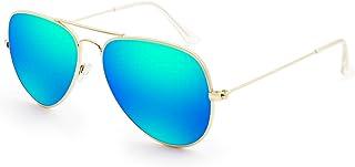 Livhò Sunglasses for Men Women Aviator Polarized Metal Mirror UV 400 Lens Protection