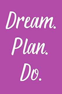 Dream. Plan. Do: 2020 Weekly Simple Planner: 52 Week Agenda: 6x9 Soft Cover: Fun Grape Purple