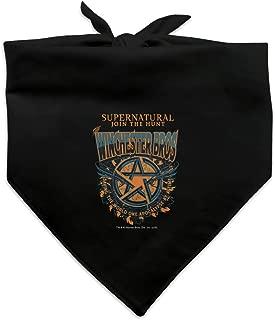GRAPHICS & MORE Supernatural The Winchester Bros Dog Pet Bandana - Black