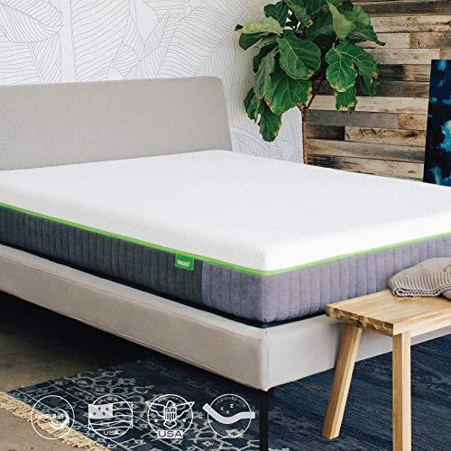 Cariloha Luxury Bamboo Mattress - Advanced Side-Wedge Support Signature Bamboo Comfort Foam - Luxury Memory Foam - Flex Flow Dual Density Base Foam - 10 Year Warranty (Queen)