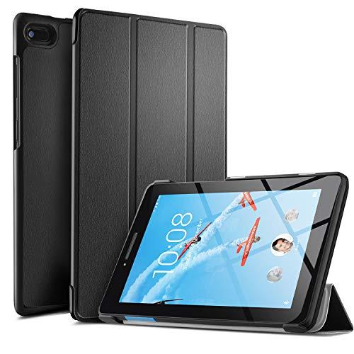 ELTD Hülle für Lenovo TAB E7,Ultra Leightweight Flip Hülle mit Ständer Funktion & Eingebautem Magnet Hochwertiges PU Leder Schutzhülle für Lenovo TAB E7 7 Zoll Tablet [Schwarz]