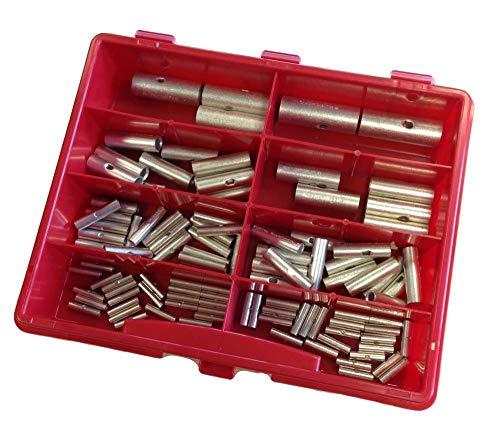 Sortiment Kasten Stossverbinder Set unisoliert 0,25-50mm² 106 Teile I Industriequalität