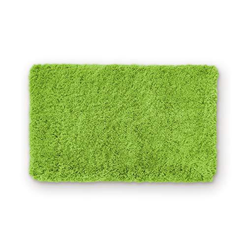 WohnDirect Badematte Einzeln zum Set kombinierbar • Badvorleger Duschmatte • rutschfest & Waschbar • Badteppich, Badezimmerteppich Grün • 60 x 100 cm