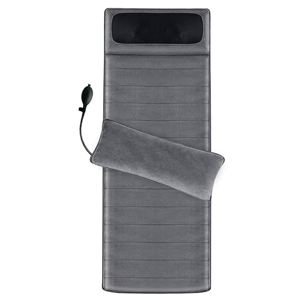 モーテル充電流行しているマッサージクッション - フルボディマッサージディープクニーディング波振動インテリジェントハンドコントロール用ホームオフィスマッサージマットレス