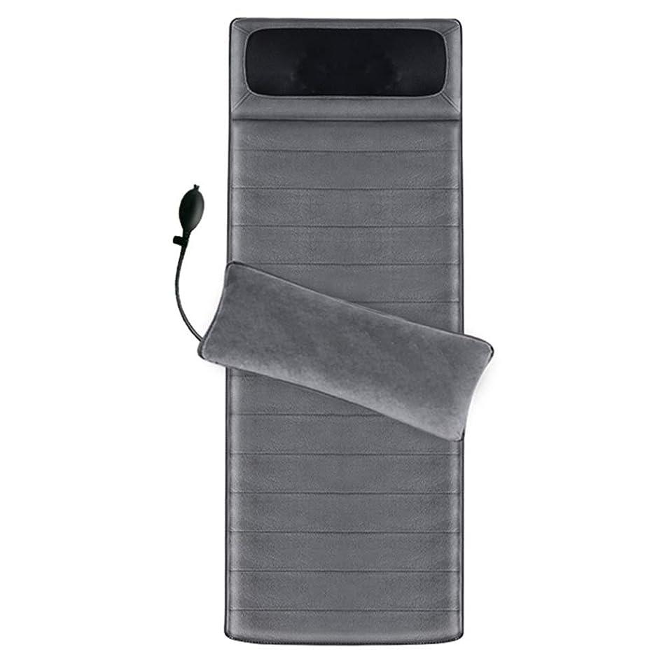 印象的秘書アトミックマッサージクッション - フルボディマッサージディープクニーディング波振動インテリジェントハンドコントロール用ホームオフィスマッサージマットレス