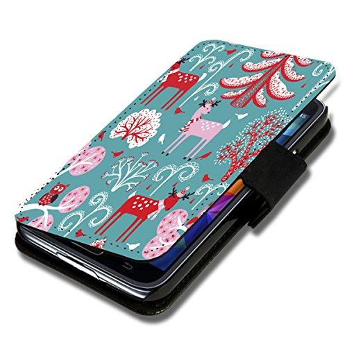 Book Style Flip Handy Tasche Hülle Schutz Hülle Schale Motiv Etui für Wiko Wax - Flip X14 Design1