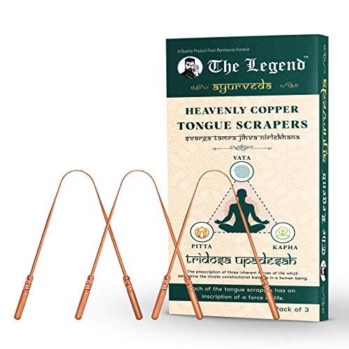 The Legend Hemelse koperen tong reiniger of schraper (Pack van 3)