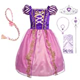 Dressy Daisy Girls' Princess Dress up Fairy Tales Costume Cosplay Party with Long Braid Accessories Size 3T