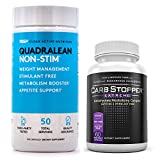 RSP Quadralean 2.0 Bundled with Carb Stopper Extreme - The Most Powerful Fat Burning Combination for Weight Loss | Melt Away Belly Fat, Block Sugars and Starches with Keto Friendly Diet Supplements