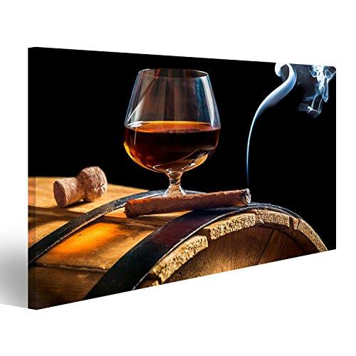 islandburner Quadro Moderno Aroma di sigari cubani e Cognac su Sfondo Nero Stampa su Tela - Quadri Moderni x poltrone Salotto Cucina mobili Ufficio casa - Fotografica Formato XXL GSN