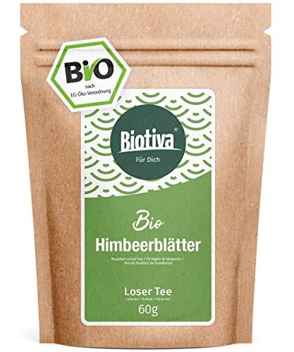 Feuilles de thé de framboises Bio (60g) - Thé à base de plantes - Rubus Ideaus - même pendant l'accouchement - très grandes feuilles - L'agriculture biologique - (DE-ÖKO-005)