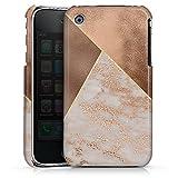 DeinDesign Coque Compatible avec Apple iPhone 3Gs Étui Housse marbre Triangles Falltrend