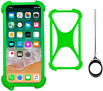 Universal Smart Phone Bumper Case for Alcatel OneTouch Idol 3 5.5  Huawei Ascend Mate 2 4G Elastic Soft Silicone Cover for Motorola Moto G7 LG G Stylo 5 4 3 Phone Size 4   to 6.5   inch Case  Green
