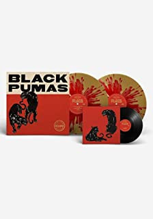 "Black Pumas - Exclusive Limited Edition Red & Gold Splatter Colored 2x Vinyl LP With Bonus 7"" Included! (Only 1000 Copies ..."