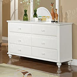 Bedroom Dresser with Storage Drawers - White Finish