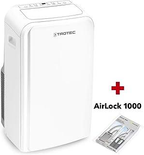 TROTEC Acondicionador de aire local PAC 3500 SH 3,5 kW/, Unidad de aire acondicionado 4 en 1: refrigeración, calefacción, ventilación, deshumidificación incluido Airlocki 1000