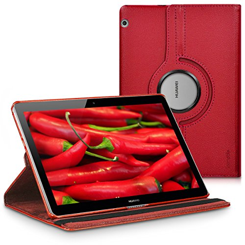 kwmobile Schutzhülle kompatibel mit Huawei MediaPad T3 10 - Hülle 360° Tablet Cover Hülle Rot