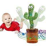 Emoin Tiktok Dancing Cactus Repeat, Talking Dancing Cactus Toy, Repeat+Recording+Dance+Sing, Wriggle Dancing Cactus Repeat What You Say and Sing Electronic Cactus Toy Decor for Kids Adult - 120 Songs
