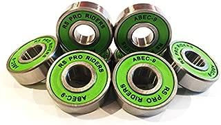 RS Pro Riders ABEC 9 608 Rodamientos de monopatín o scooter, 8x 22x 7mm, 8 unidades, color verde