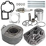 NICHE 80cc Engine Piston Cylinder Gasket Head Kit for Suzuki QuadSport LT80 Kawasaki KFX80 11210-40B01 11111-40B00