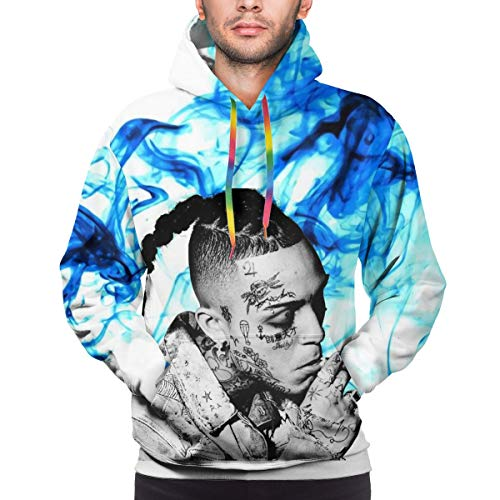 NOT Man Basic Soft Fashion Lil Skies Pullover Long Sleeve Hoodie S Black