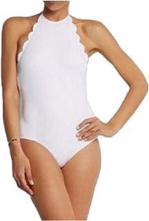 GodeyesW 女性オープンバック固体ホルターネックプラスサイズビーチビキニ水着