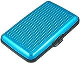 DealMux Kredit-ID-Visitenkarte-Halter-Schutz 6 Taschen, Sky Blue