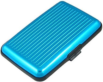 DealMux Kredit-ID-Visitenkarte-Halter-Schutz 6 Taschen, Sky Blue : B�robedarf & Schreibwaren