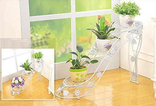 BOBE SHOP- Iron Flower Frame Multi - verhaal bloempotten Frame binnen en buiten woonkamer balkon hoge hakken creatieve bloem planken (specificaties: 73 * 25 * 54cm)