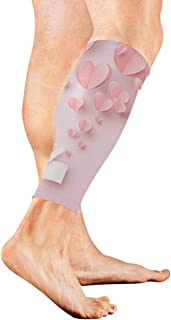 Pink Heart With Bokeh And Glitter Calf Compression Sleeve Leg Compression Socks For Shin Splint Calf Pain Relief Men Women And Runners Improves Circulation Recovery