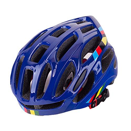 YOUCAI Mountainbike Helm Herren & Damen Schutzhelm, Outdoor Skateboard Radfahren Helm Blau M