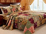 3 Piece Oversized King Bedspread Quilt Set to The...