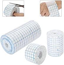 HAMUHA Mesh Breathable Non-Woven Tape Adhesive Bandage Roll Film Dressing Second Skin Healing Protective Adhesive Antibacterial Bandages Flexible Nonwovens 3.9inch*34foot(10cm*10m) (4inch*10.9yard)