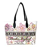 BURBERRY borsa a spalla shopping reversibile donna doodle tote 4065914 bianca