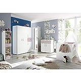 Babyzimmerset Sienna 8tlg. weiß matt flieder Komplett Set mitwachsend Gitterbett