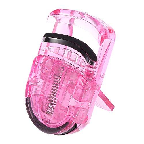 Pince à cils, Mini pince à cils portable Pince à maquillage professionnelle avec cils en caoutchouc Pince à friser naturelle Outils cosmétiques pour une tenue longue durée, courbée(rose)