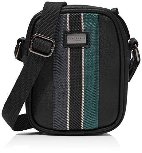 Ted Baker Men's Webbing Mini Flight Bag, Black, One Size