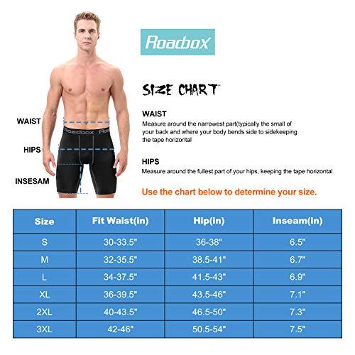 Roadbox Herren Kompressionshose 3er Pack Cool Dry Athletic Baselayer Workout Unterwäsche - - XXX-Large - 5