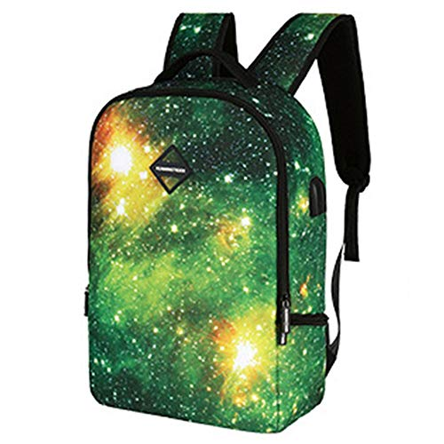 SWNN backpack Star Pattern Student Business Journey Con Puerto De Carga USB Y Bolsa De Interfaz for Auriculares, Adecuada for Computadoras Portátiles De 14 Pulgadas, Adecuada for Estudiantes Universit
