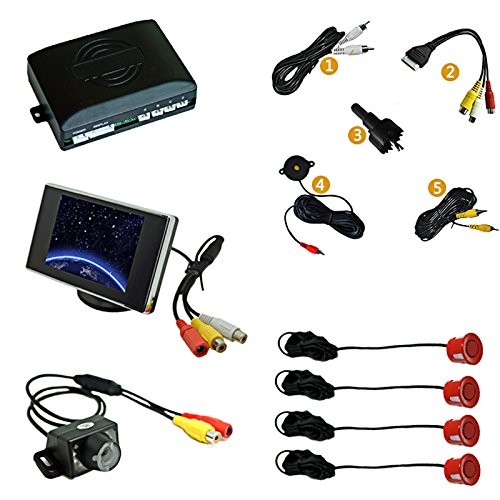 Read About FEELDO Car Rearview Parking Sensor + 3.5 Monitor + License Plate Camera Video Parking Se...