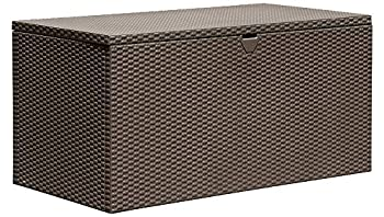 Arrow 4  x 2  x 2  Spacemaker Espresso 134 Gallon Hot-Dipped Galvanized Steel Storage Deck Box