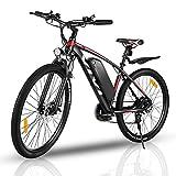 VIVI Elektrofahrrad Herren 27.5' Mountainbike mit 350W Motor,Abnehmbare 36V/10.4Ah Batterie /21-Gang-Getriebe/Höchstgeschwindigkeit 32km/h/Kilometerstand Aufladen Bis zu 50km (rot, 27,5 Zoll)