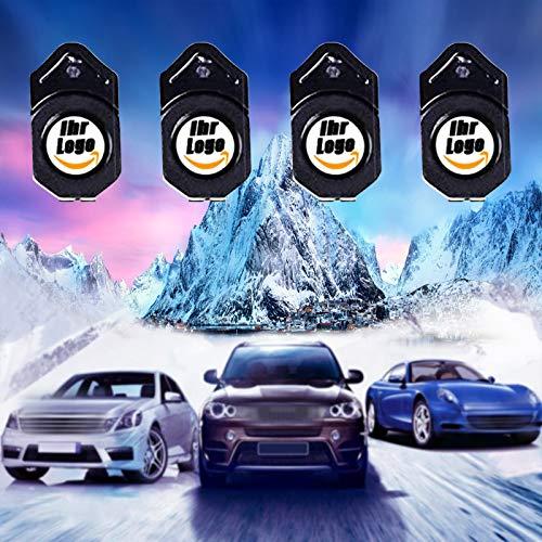 4 Stück Personalisierte Autotür Logo Licht Projektor, Verbesserte Benutzerdefinierte Autotür Willkommen Licht Projektor LED Light, Drahtlose Ghost Shadow Logo Licht für Autotür (Logo)