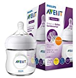 Philips Avent Natural Flasche SCF030/17, 125ml, naturnahes Trinkverhalten, Anti-Kolik-System, transparent, 1er Pack