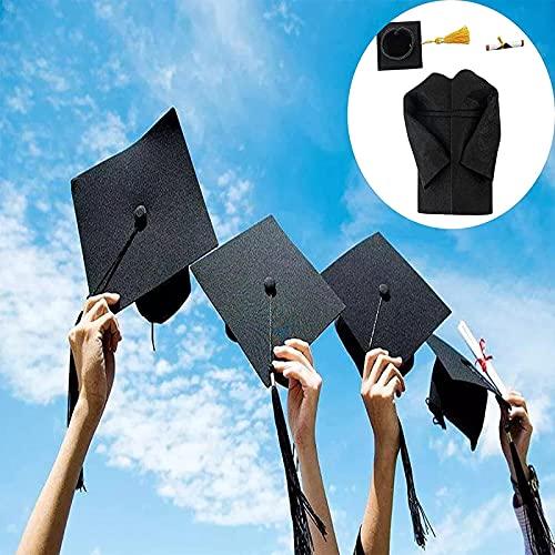MWKL Lujosas 2 Piezas de decoración de Gorro de graduación, Gorro de decoración de Fiesta de graduación y Vestido, Tapa de Botella de Vino de champán, Kits de graduación, para graduación