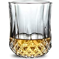 XUDES ウイスキーグラス-6個セット/昔ながらのウイスキーグラス/スコッチ愛好家のための完璧なアイデア/バーボンのためのスタイルグラスウェア/ラムグラス/バーウイスキーグラス、クリア-J