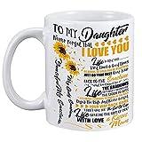 Girasol Para Mi Hija Nunca Olvides Que Te Amo Taza De Café - Eres Mi Sol Tazas Y Tazas San Valentín Cumpleaños Boda Tazas...