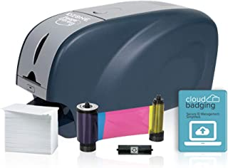 ID Zone Badge Express IDZ-31S ID Card Printer & Complete Supplies Package with CloudBadging Software