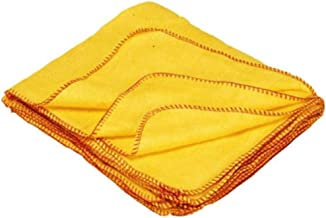 manan Dusting Wiping Cotton Cleaning Cloth, 45x40 cm, Yellow -Set of 6