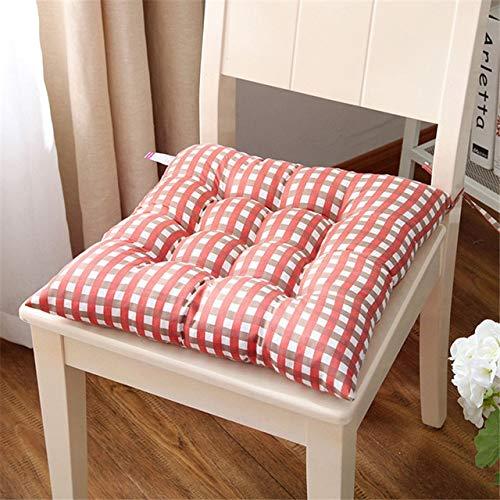 Grijs-rooster-zitkussen, 38 x 38 cm, voor studenten, krukken, zacht, voor eetkamer, tapijt, kussens, tatami, voor binnendecoratie, vierkant, oranje